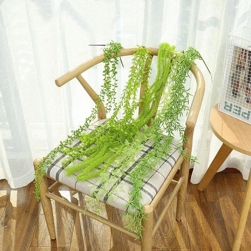plantas plantas artificiales de la hierba verde de plástico flores decorativas de jardín decoración del hogar de plástico Hierba planta artificial falso yI4Z #