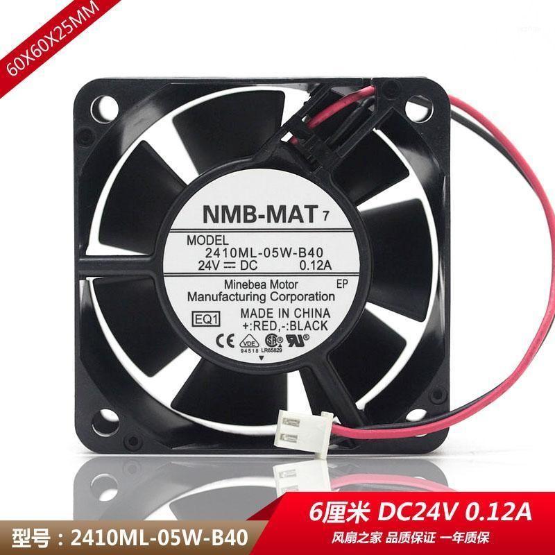 Original waterproof NMB 2410ML-05W-B40   B49 6025 24V 0.12A frequency converter cooling fan1