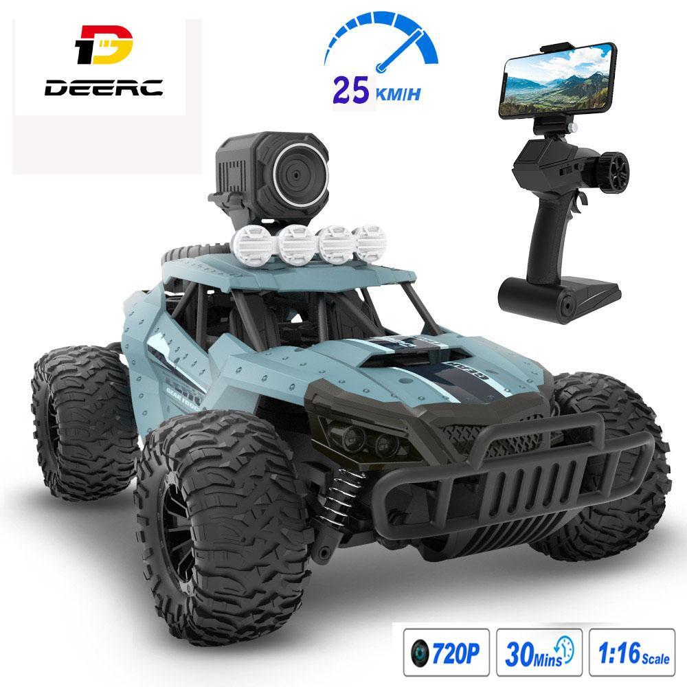 DEARC RC CAR с камерой Full HD 720P 1:18 25 км / ч высокоскоростной гоночный дрифт автомобиль WiFi камеры дистанционного управления автомобильным игрушкам для детей
