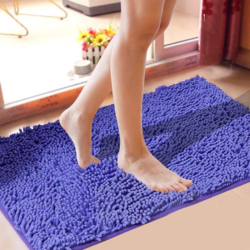 Tapetes de banho Chenille Chenille esteira antiderrapante super absorvente casa de banho tapete de cozinha para para sala de estar tapete alfombra bano