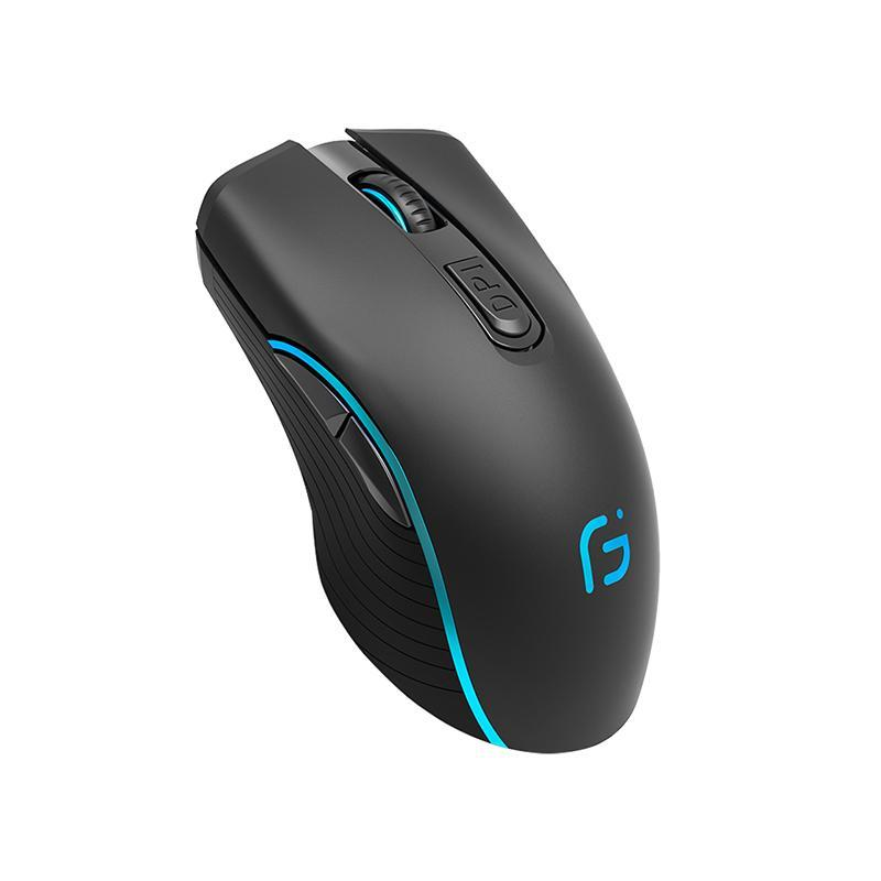 Computer Wireless Bluetooth Mouse 2 Mode 2400DPI Ergonomic Rechargeable Mouse 2.4G Wireless Portable Optical Mice For PC