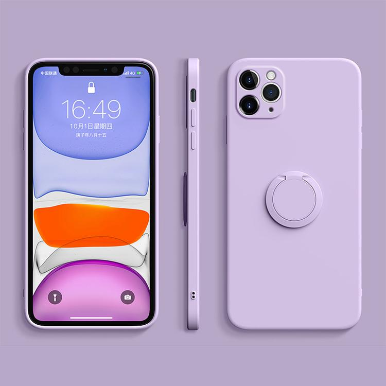 Silicone Magnetic Holder Phone Case For IPhone 11 12Pro SE XS max XR XS X 8 7 6s 6 Plus Stand Finger Ring Bracket Cover
