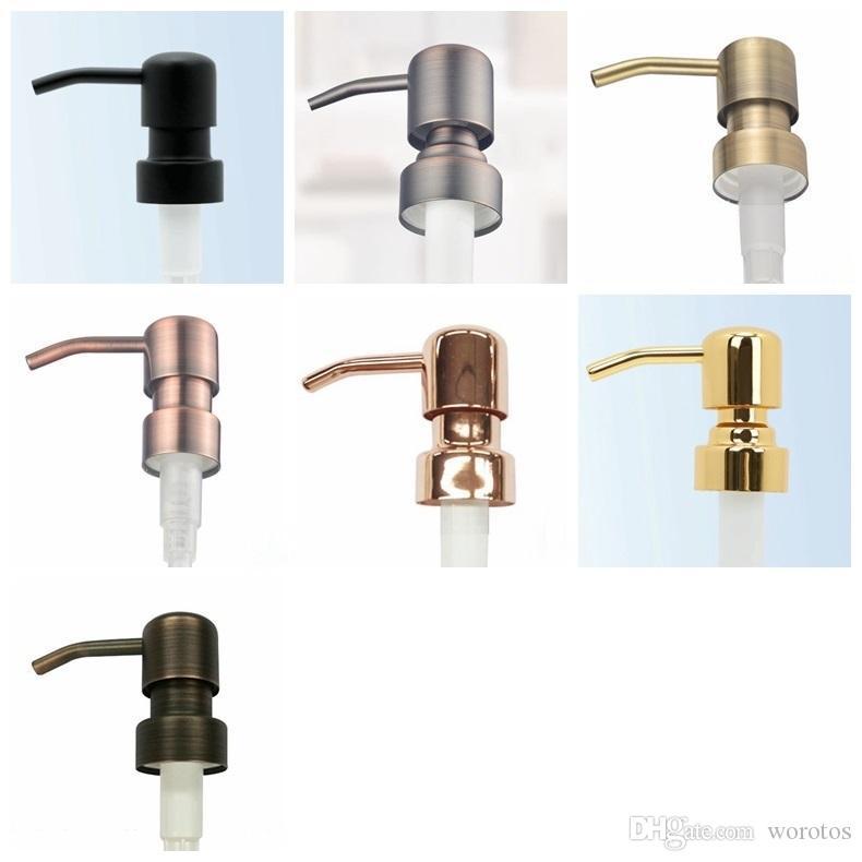 28/400 Wholesale Soap Dispenser Black Bronze Rust Proof Proof 304 жидкий насос из нержавеющей стали для кухни банку ванной не включены