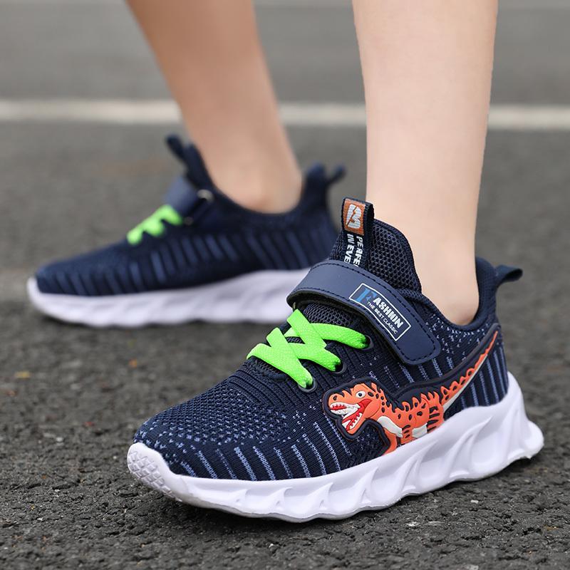 embroma las zapatillas de deporte de dinosaurios para niño, Correr zapatos de los niños zapatos infantiles transpirables y ligeras Chaussure Enfant 1006