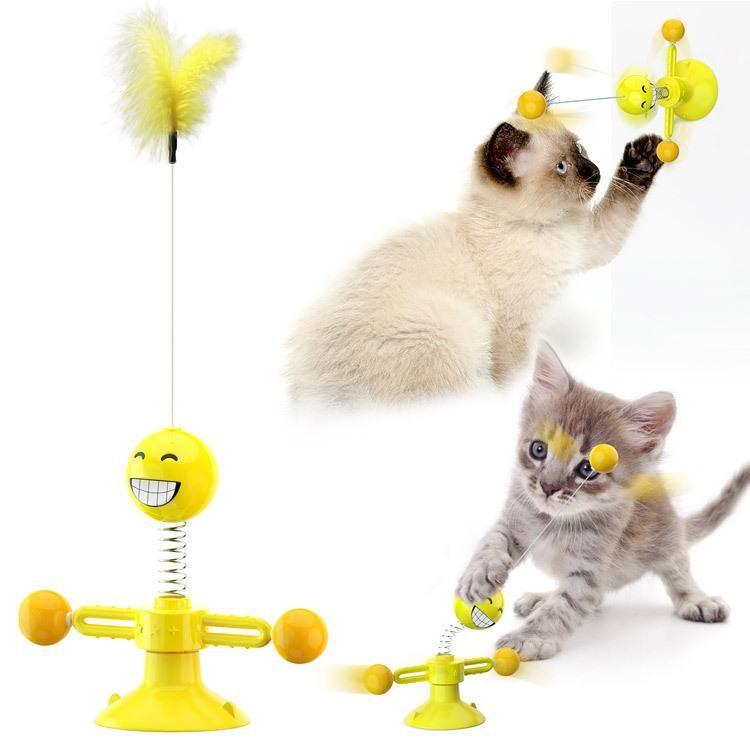 القط حيوان أليف الكلب لعبة الربيع بدوره الإنسان لعبة القط أسطوانات لعبة الحيوانات الأليفة الحيوانات الأليفة عام دعابة عصا يمكن استخدامها لفترة طويلة