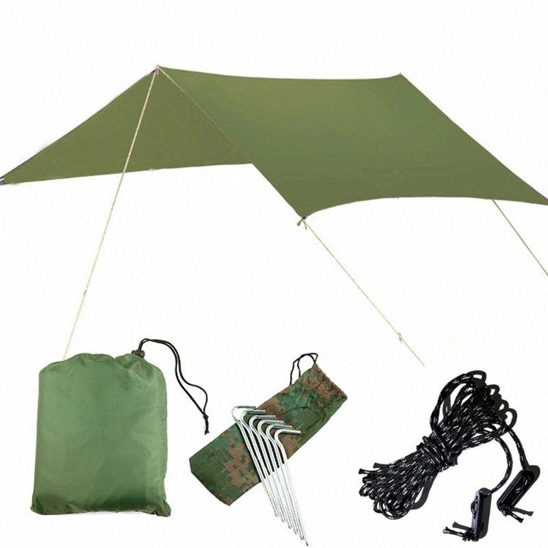 Outdoor Oversized Canopy Sunshade Praia Camping Tent Waterproof Proof pano Umidade Pad Triângulo Canopy Waterproof Shelter Sun shelte y7cB #