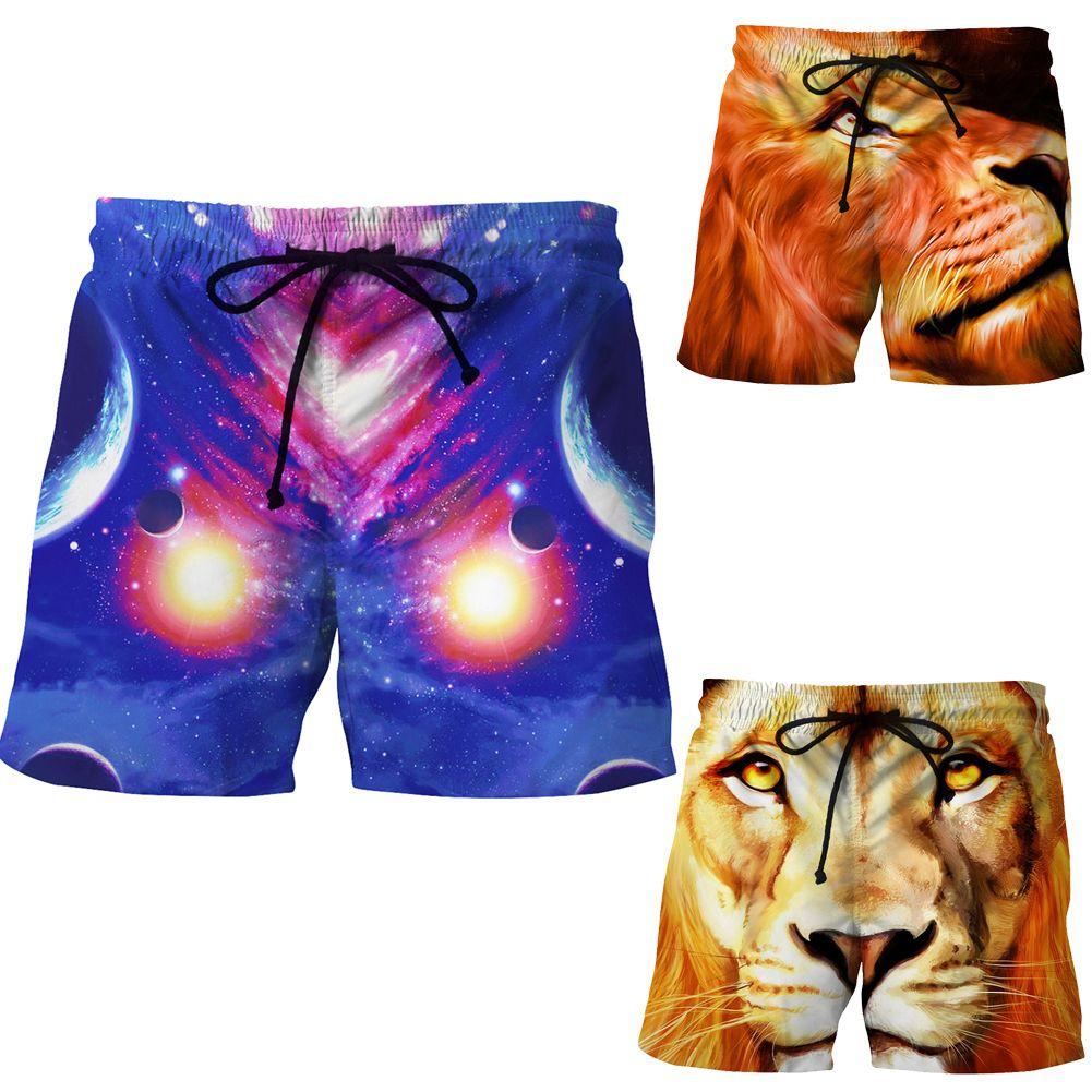 Cool Men Swimming Trunks Pop Print Beach Swimming Swim Trunks Shorts Slim Pants Swimwears Size M-XXL