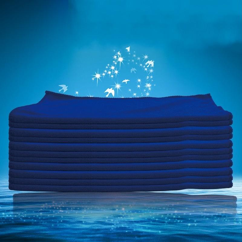 30*70cm Towel Automobile Car Wash Cloth Cleaning Facecloth Blue Hemming Superfine Fibre Polishing Loop Towels New Arrival 0 62jy K2