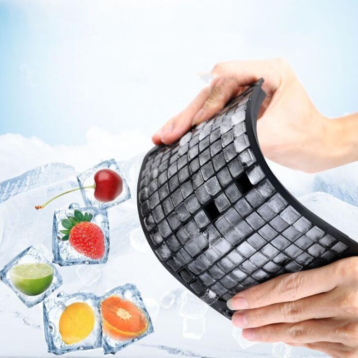 Glace Cube Maker Grade Grade Silicone Bac de glace Fruit 160 Grilles Diy Creative Petite Cube Moule Share Share Bar Cuisine Accessoires Zyy429