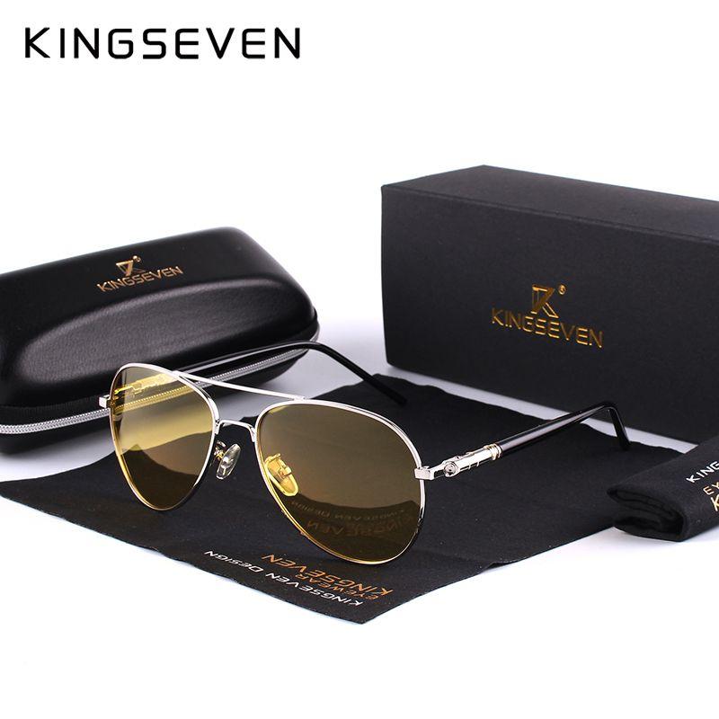 2020 Mens polarisierte Nacht fahren Sonnenbrille Mann-Marken-Designer-Gelb-Linse Nachtsicht Driving Gläser Goggles Blendung reduzieren