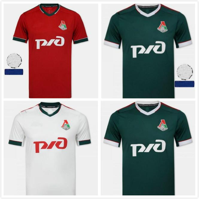 20 21 Lokomotiv Moscou Soccer Jersey Zhemaletdinov Smolov Krychowiak Barinov Miranchuk Personnaliser la maison Troisième chemise de football blanc vert