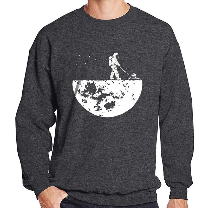 Vente chaude Hommes Sweatshirts Automne Winter Polaire Imprimer Développer la lune Fashion Casual Sportswear Hoody Harajuku Sweats à hoodies