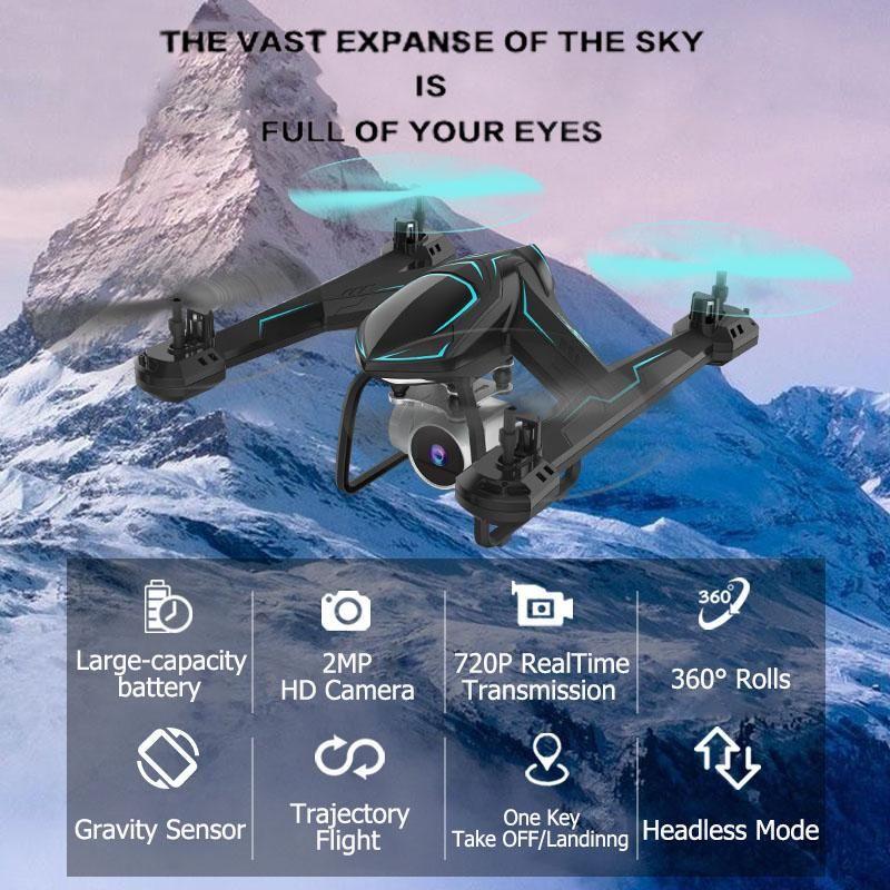Мини Дрон с широкоугольной камерой RC вертолет с WiFi FPV Высота HOLD HOLD RC Quadcopter Очки игрушки для детей #e