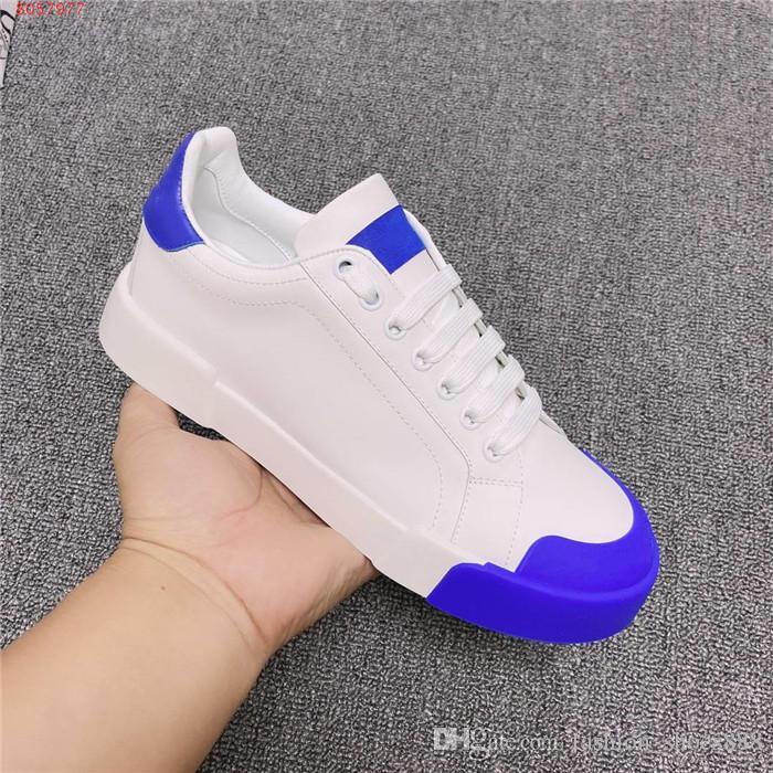 Lady подборы цвета досуг обувь с низким верхом кроссовок, легкий резиновый износ - устойчивая плоское - нижние белые туфли с коробкой Размером 35-41