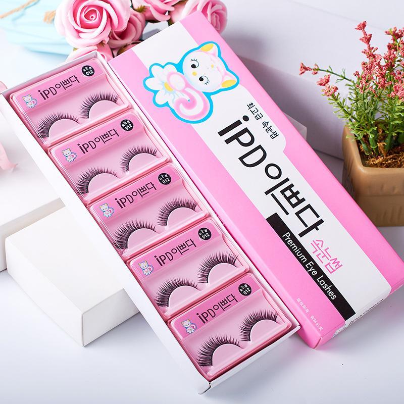 10 paia / box stile coreano gatto IPD Ciglia finte Handmade pura lunghi spessi naturali Eye Lashes