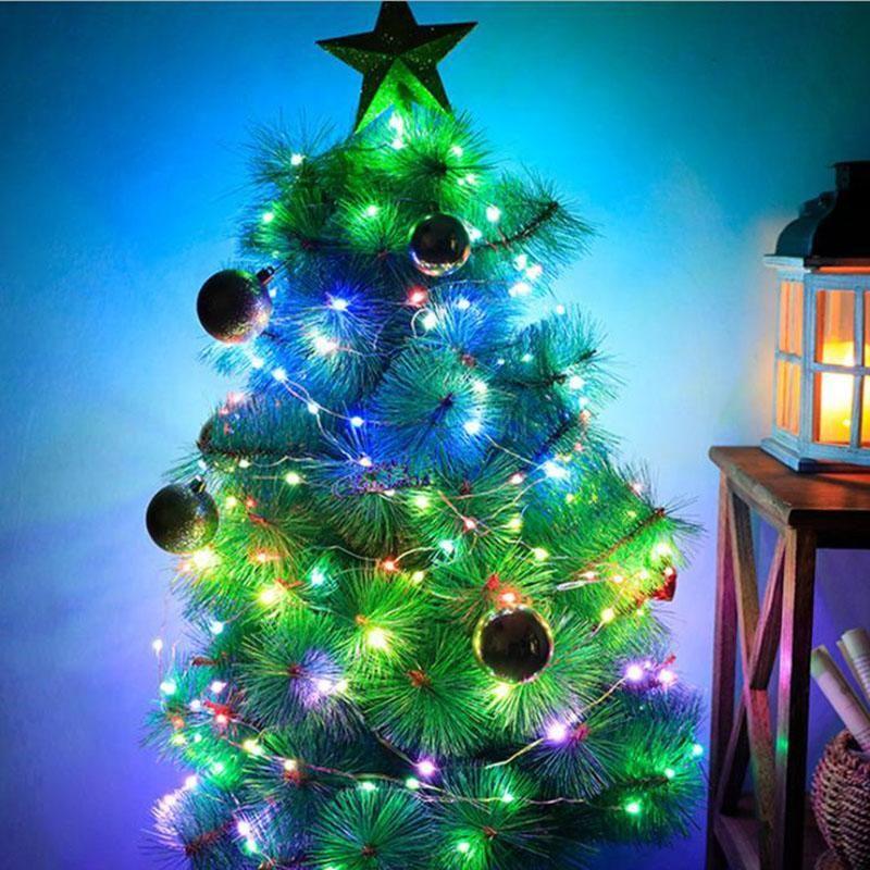 Christmas LED Fairy String Light DreamColor 10m 100led RGB Magic USB Strip Strip avec 18 Touche Télécommande pour la décoration de vacances de fête