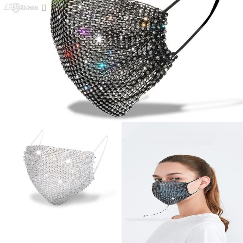 5ZJ Designer Rhinestones Lavable Blingmask Masks Máscara Facia Cara Lentejuelas Diamante CS Escudo Kxquw Fashion Wlyu