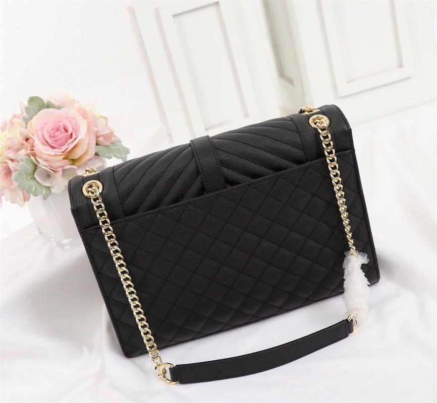 Designer di lusso Borsa da borsetta Genuina Caviale in pelle Borsa da donna in pelle di alta qualità con borsa a tracolla a tracolla Borsa a flap borsa da donna