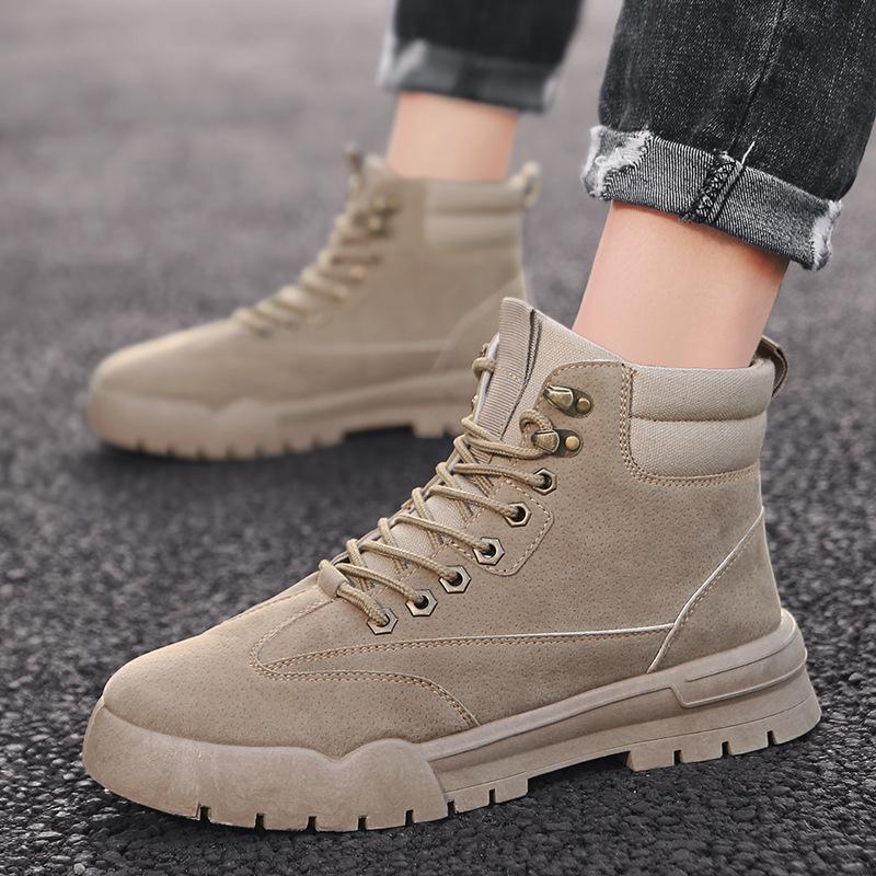 Chaussures à la mode d'hiver Polyvalent Martin Bottes désert Bottes tendance résistant à l'usure Worker Bottes de Lady B Chaussures Casual -40