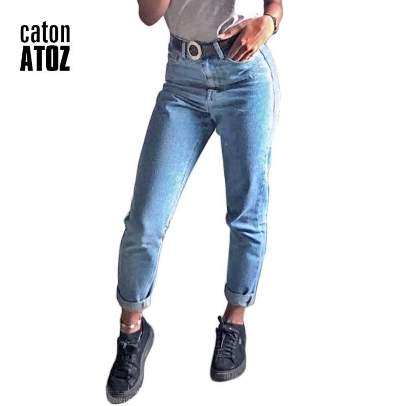 Catonatoz 1886 Neue Ankünfte Frauen Plus Größe Mom Jeans Hohe Taille Jeans Ol Denim Hosen Hosen Frau Harlan Boyfriend Jeans 201031