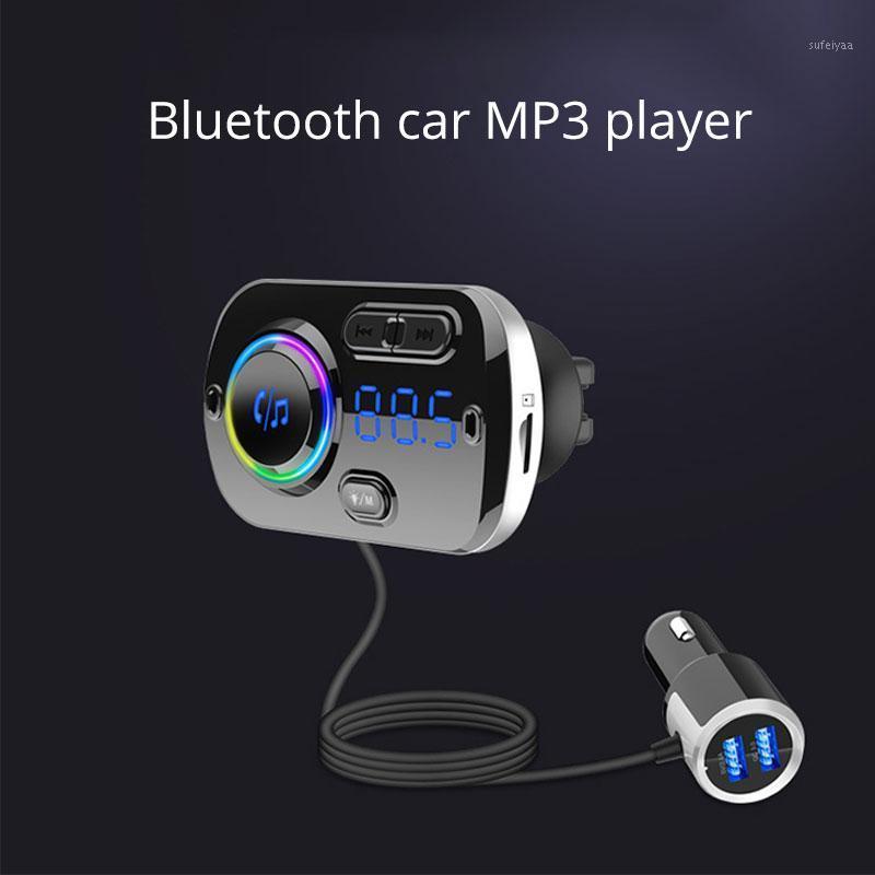 CALT MP3-Player Schnellladung Auto Bluetooth MP3 Freisprecheinrichtung Auto FM Sender Umgebungslicht Display1