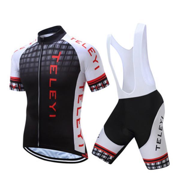 Imposta Jersey poco costosa in bicicletta l'insieme dei vestiti della bici della bicicletta della squadra manica corta Mens ciclismo Jersey Estate traspirante Ciclismo abbigliamento