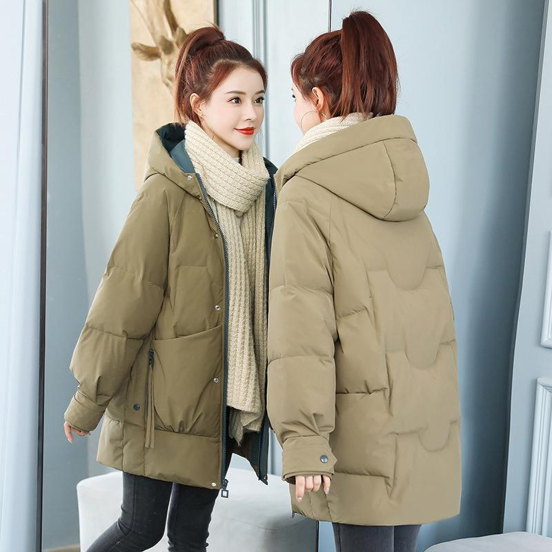 Parke and Down Medio Long Long 2020 New Student Ins Girl Cotton imbottito giacca moda