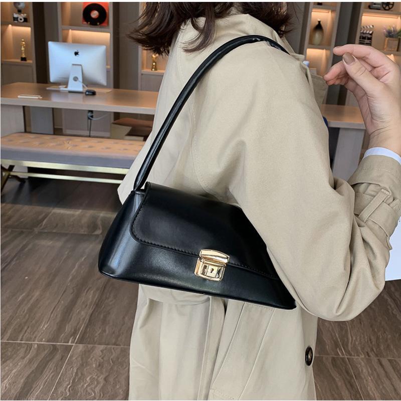 Omuz Çantaları Kore Siyah Katı BWB13807-2 intage 2020 Yeni Geliş Deri Çanta Kadınlar Üst düzey Retro Modern Çanta Ofis Lady