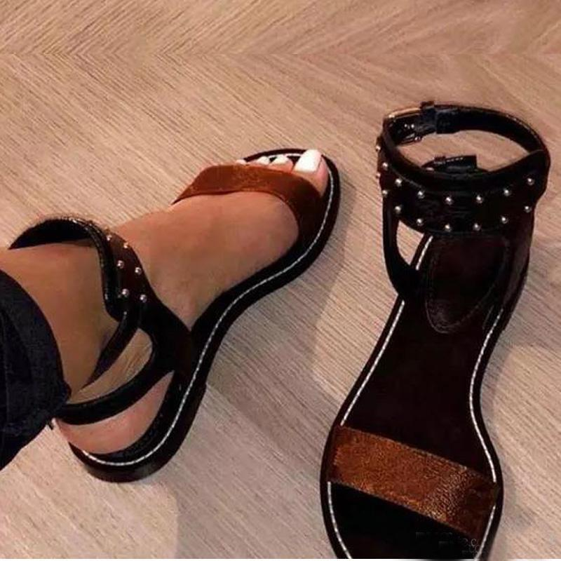 أزياء المرأة الصنادل الصيف برشام الشقق مثير الكاحل أحذية عالية الرجال المصارع الصنادل النساء عارضة الشقق أحذية السيدات شاطئ الصنادل الرومانية حجم كبير 35-42-45 US4-US1
