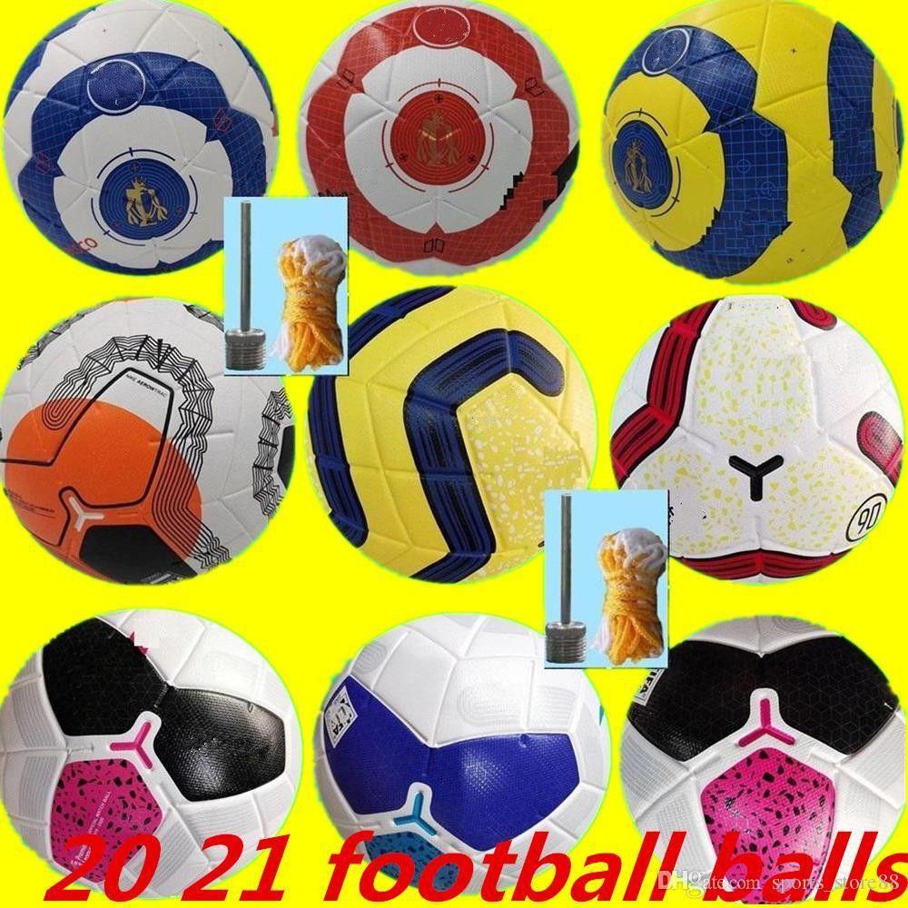새로운 클럽 리그 2020 2021 크기 5 공 축구 공 고급 좋은 성냥 리가 프리미어 20 21 축구 공 (공기가없는 공)