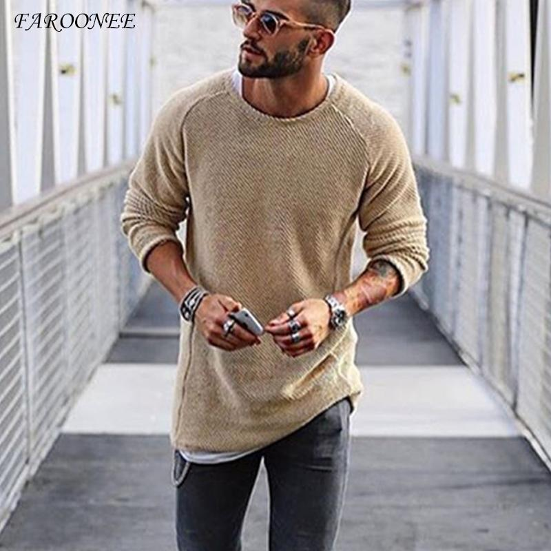 Men's Sweaters Arrival Sweater 2021 Autumn Winter Slim Solid Men Casual Pull Jumper Male Brand Clothing EU Size
