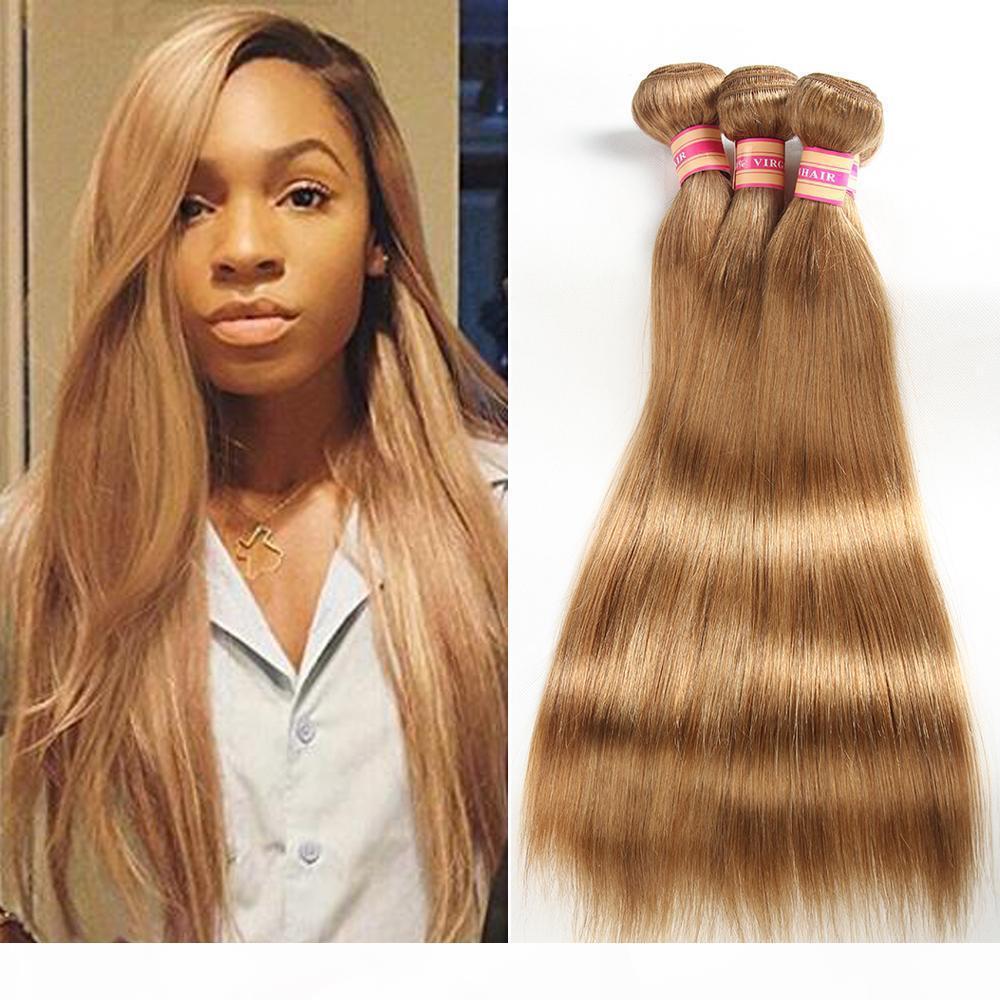 8A mink brasileiro braços de cabelo em linha reta cor 27 #, 99J não processado cabelo humano tecer malaysian peruano indiano virgem cabelo em estoque