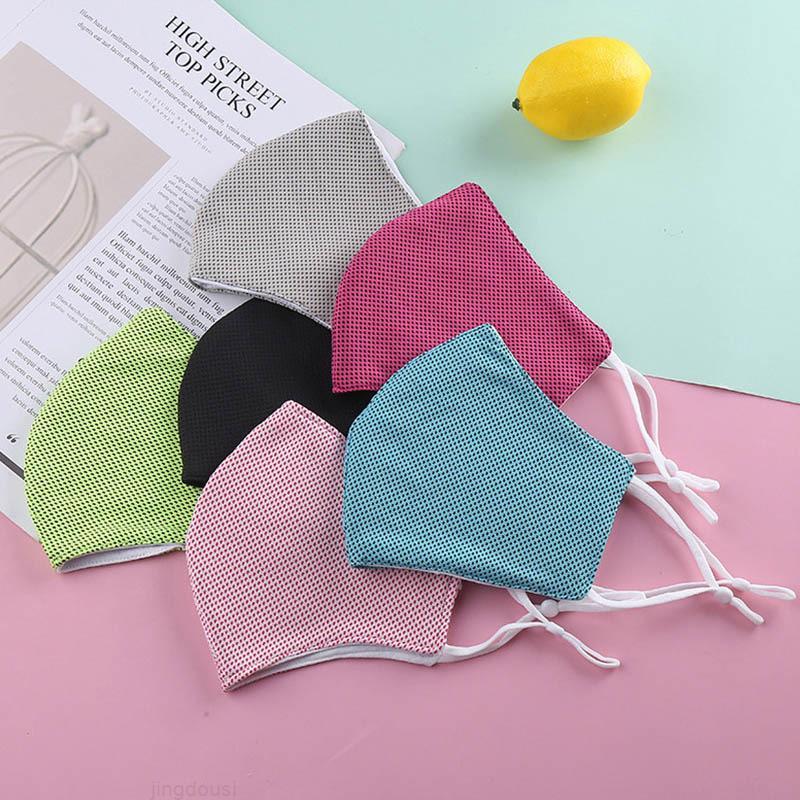 Ankunftsmasken 12 Farben für Erwachsene und Kindersommer Neue coole Eisseidenmaske für Außenzyklus Gesichtsmasken Einstellbare Atemmaske W1