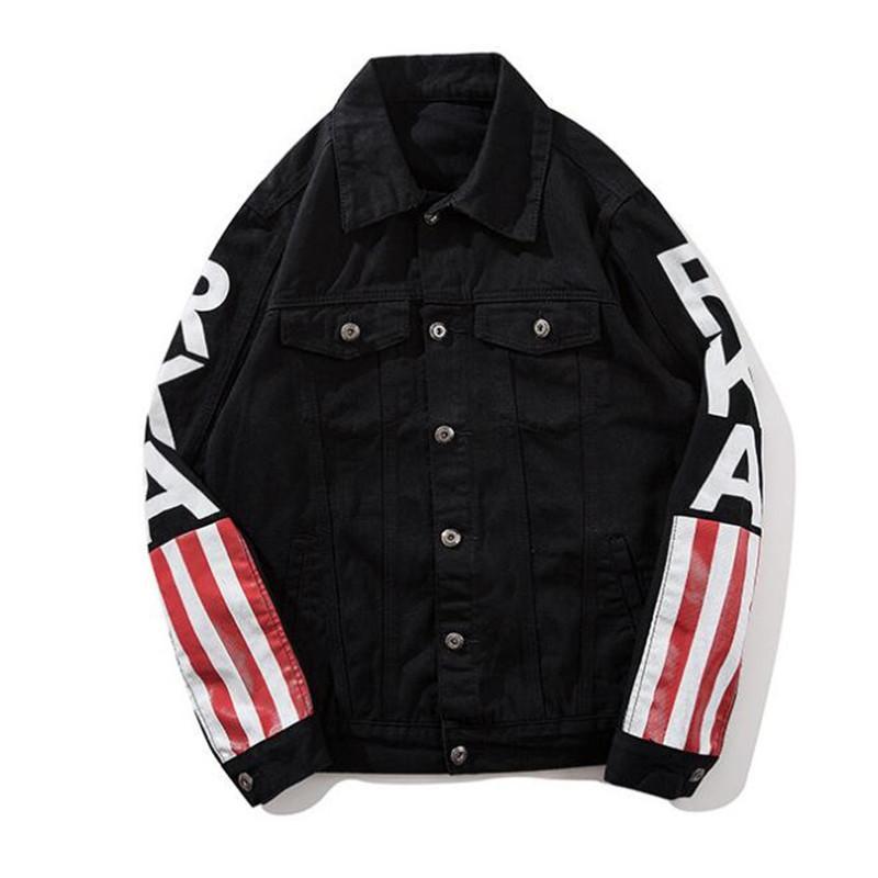 Kimsere Men's Fashion Hi Street Parted разорванные джинсовые куртки Streetwear разрушено джинсовая куртка Transifer Верхняя одежда для мужчин S-XXL