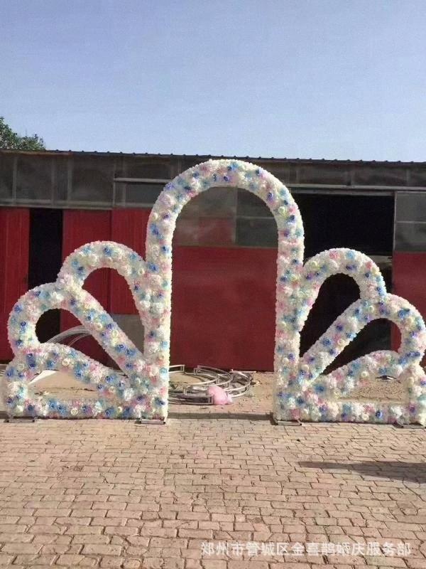 Arco de la boda Puntales, Un solo arco de flores al aire libre del césped de la boda de la puerta flor Estante de cumpleaños Decoración Rgww #