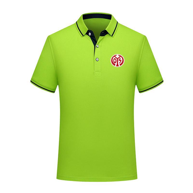 FSV Mainz 05 Summer Fashion Cotton Football Polo Polo uomo manica corta risvolto polo da calcio uomo polo maglia di allenamento