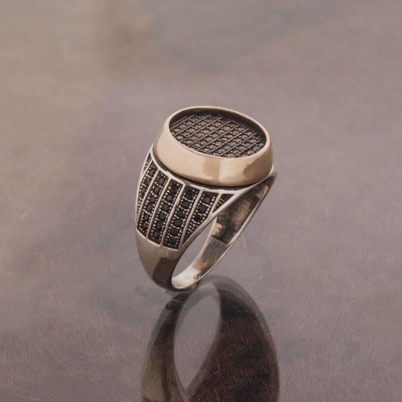 Кластерные кольца 925 стерлингового циркона Каменное украшенное серебряное кольцо мода турецкое качество ручной работы