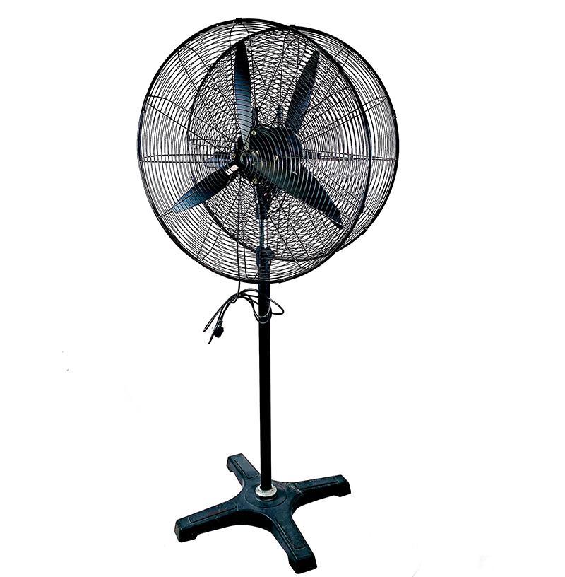 Two-way intelligent shaking head vertical stand fan industrial outdoor fan horn fan self-buckle net cover 220vG-650