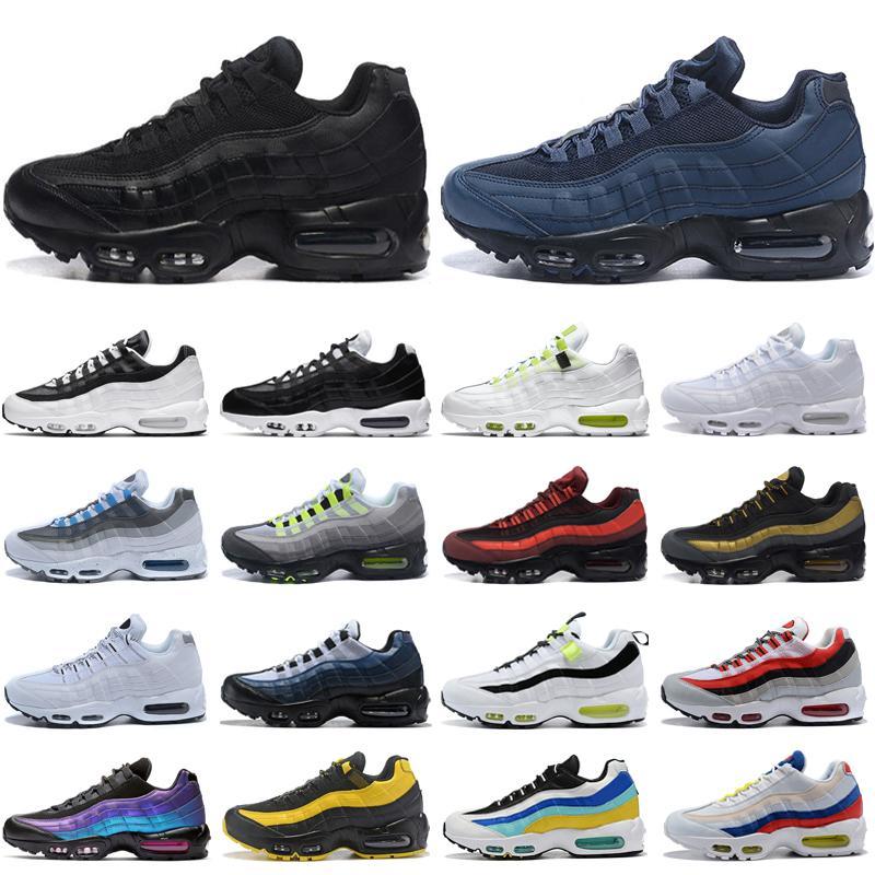 Nike air max 95 airmax Tasarımcı Mens Womens Koşu Ayakkabı kadınlar üçlü siyah mor kırmızı gri Spor erkek spor açık eğitmen yürüyüş Sneakers abd 5.5-12