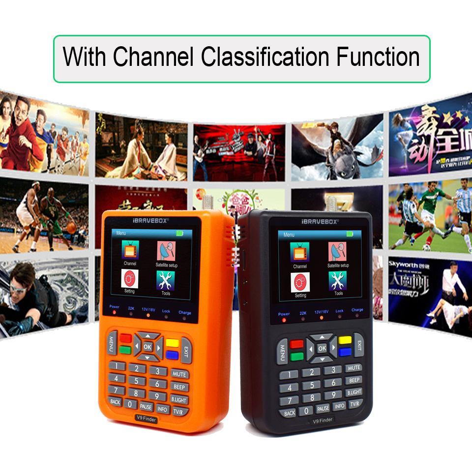 DVB-S / S2 V9 Finder numérique par satellite Finder HD3.5 pouces LCD H.265 MPEG-4 DVB S S2 Satellite compteur FTA Satfinder 1080P complète