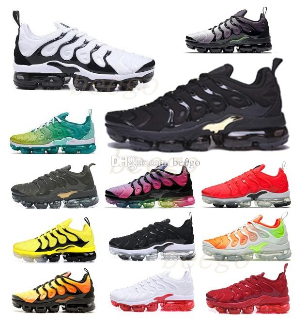 Vente préférentielle vapor air max airmax vapors vapormax TNS Plus Ultra Running Shoe Zebra Classic Outdoor Tn Coussins Shoes Sport Shock Runner Sneakers Mens Requin 36-46 2020 #
