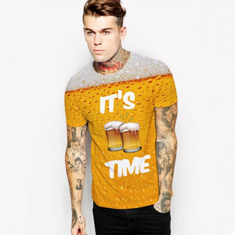 Alisister bière Imprimer T-shirt Ce temps Lettre Femmes Hommes drôle de nouveauté T-shirt à manches courtes Hauts Hauts unisexe HABILLEMENT Dropship Classique
