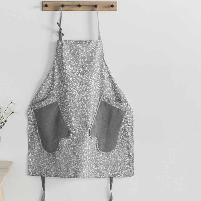 Japão Floral Waterproof avental da cozinha Início Coffee Shop Adulto Bib apagável Mão Cozinhar limpeza Avental para as Mulheres