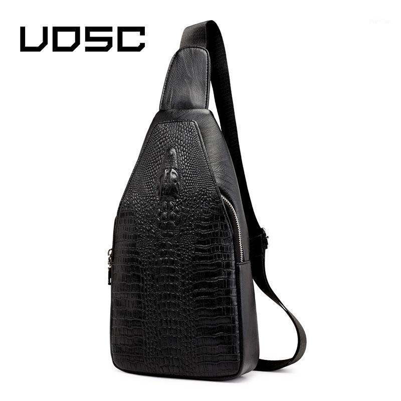 Uosc vintage crocodilo jacaré bolsa de couro homens pack pack crossbody sacos homens ombro messenger saco saco de trilhadeiras zipper sacos1