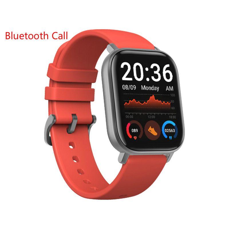 GTS Akıllı İzle Bilezik BT Çağrı Kalp Hızı Kan Basıncı Monitör Spor Izci Android Telefon için Smartwatch