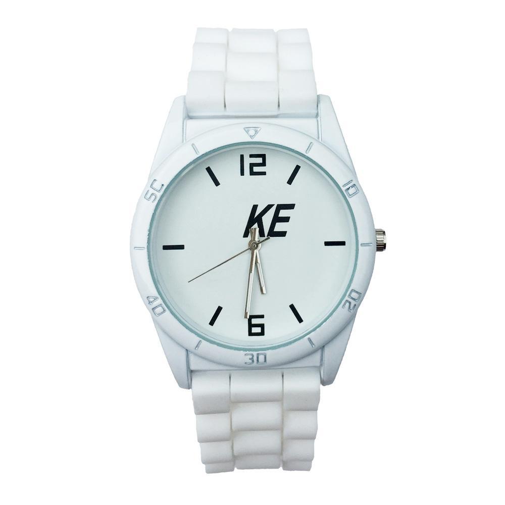 패션 브랜드 여성 남성 남여 실리콘 밴드 석영 손목 시계 N05 시계