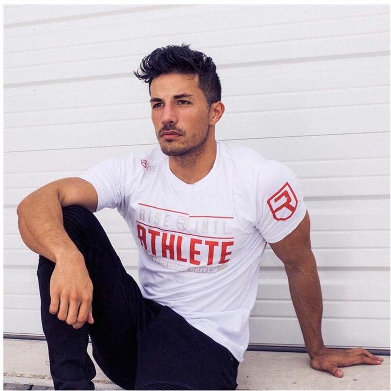 Новый Взлет бодибилдингу и фитнесу мужские с коротким рукавом рубашки Спортзалы Shirt Men Muscle Колготки Фитнес T Рубашки Последние тенниска Designs Coole d4ss #