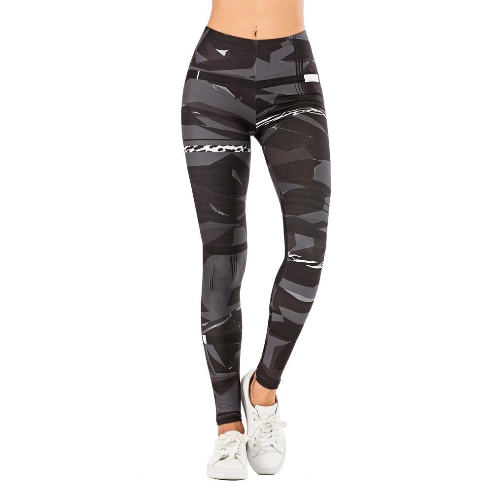 Moda mujer pantalones sexy mujeres legging geométrico costura leopardo impresión fitness leggins delgado legítimos estirados leggings