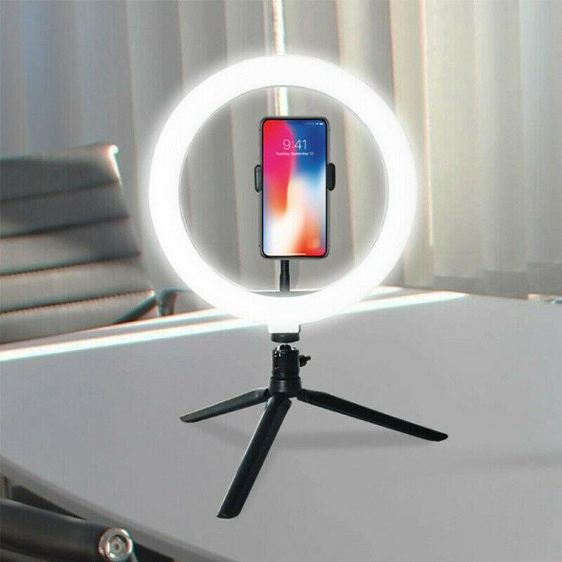 26cm Ring Light Selfie Fill Light 10in Dimmable Camera Phone Photographic Lighting For Makeup Video Live Studio Youtube TSLM1