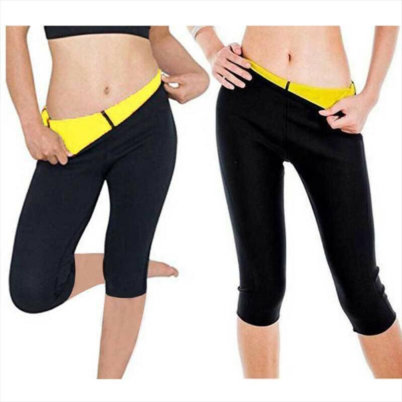 2020 Calças Marca New Ladies Mulheres Shapers Amarelo Preto Remendo Neoprene emagrecimento Suar Sauna Suit cintura elástica Esporte